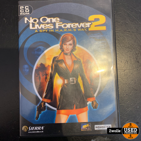 PC game No One Lives Forever 2   compleet met code