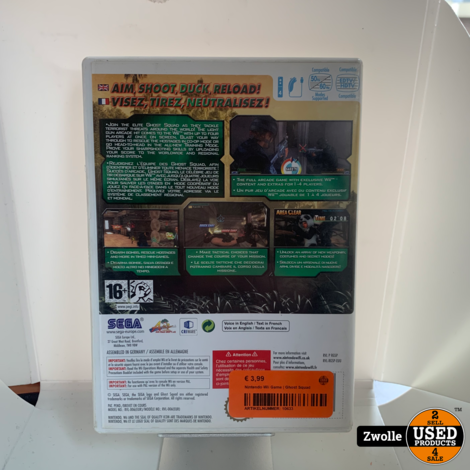 Nintendo Wii Game   Ghost Squad