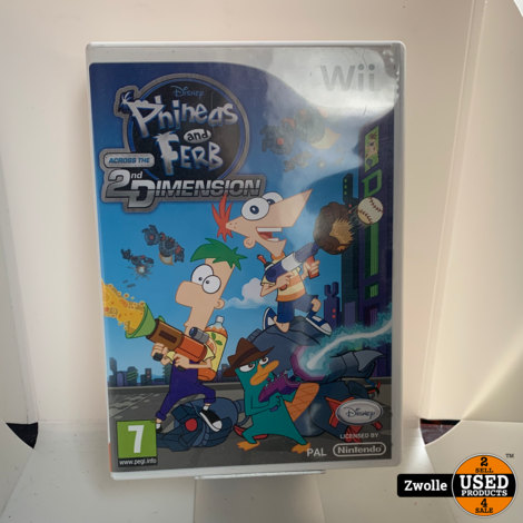 Nintendo Wii Game | Phineas and Ferb 2nd Dimension