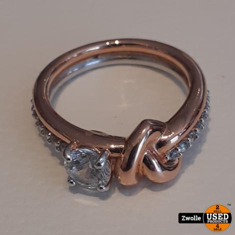 Swarovski ring met keurmerk | Lifelong Heart Ring White, Mixed metal finish | maat 16