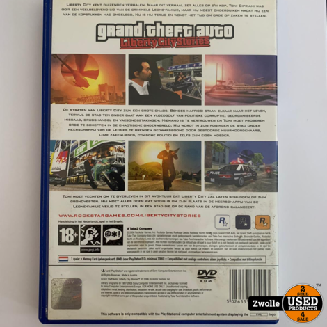 PS2 Game - Grand theft auto Liberty city stories