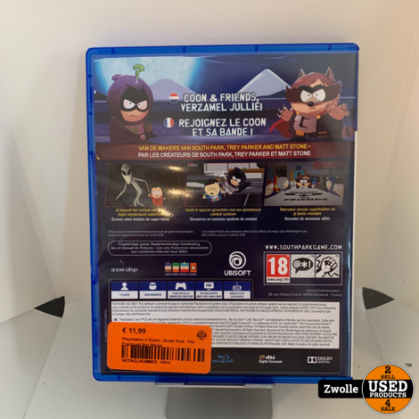Playstation 4 Game | South Park: The Fractured But Whole