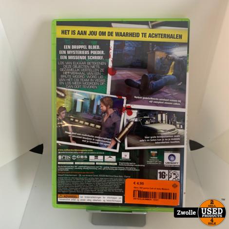 Xbox 360 game CSI crime scene
