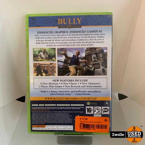 Xbox 360 game Bully scholarship edition