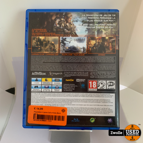 Playstation 4 game Call of Duty Black ops 3