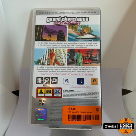 PSP Game GTA Vice City Stories