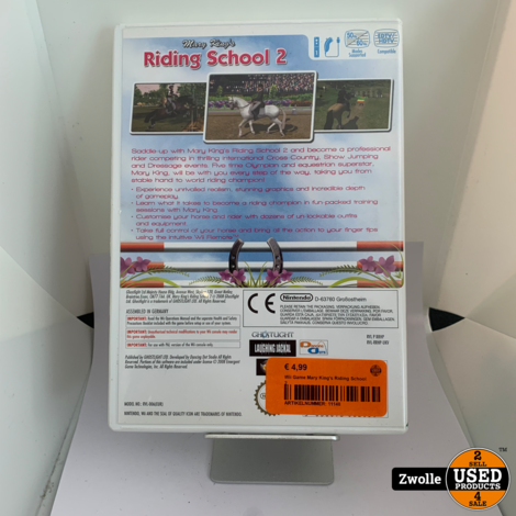 Wii Game Mary King's Riding School 2