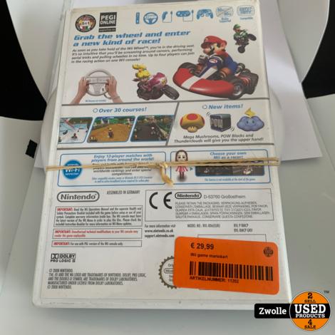 Wii game mariokart