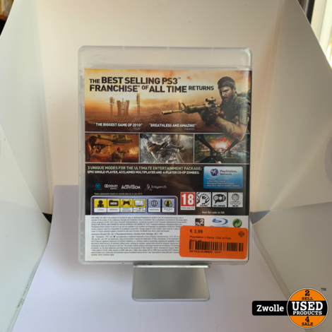 Playstation 3 Game   Call Of Duty: Black Ops