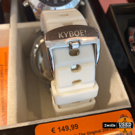 Kyboe! 20xiii The Original 204/250 white horloge