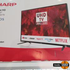 SHARP 409BJ2E 40inch 4K Ultra-HD Smart | Nieuw open doos