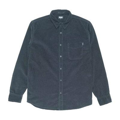 Afends Afends Back In Black Corduroy Shirt Black