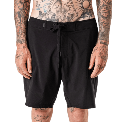"Afends Afends Fixed Waist Crucial Boardshort 18"" Black"