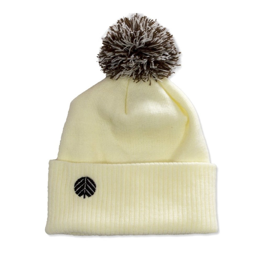 Behind The Pines Behind The Pines Essential Pom Beanie Cream