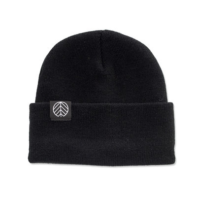 Behind The Pines Behind The Pines Flashback Logo Patch Beanie Black