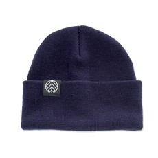Behind The Pines Behind The Pines Flashback Logo Patch Beanie Navy