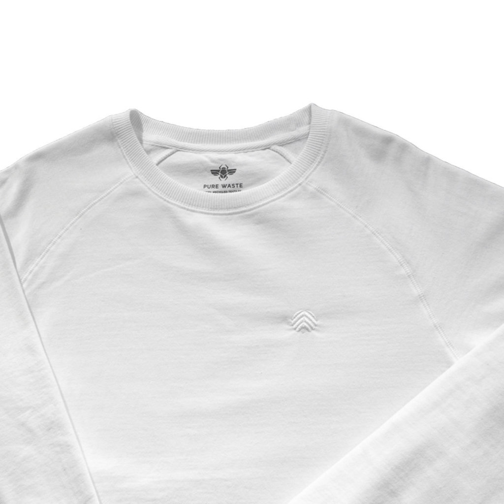 Behind The Pines Behind The Pines Recycled Crewneck White