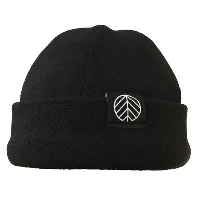Behind The Pines Behind The Pines Recycled Fleece 6 Panel Beanie Black