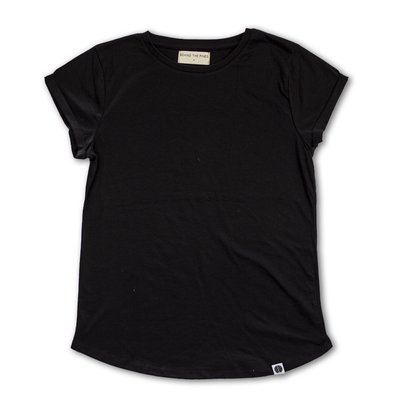 Behind The Pines Behind The Pines Recycled Rolled Sleeve Tee Black