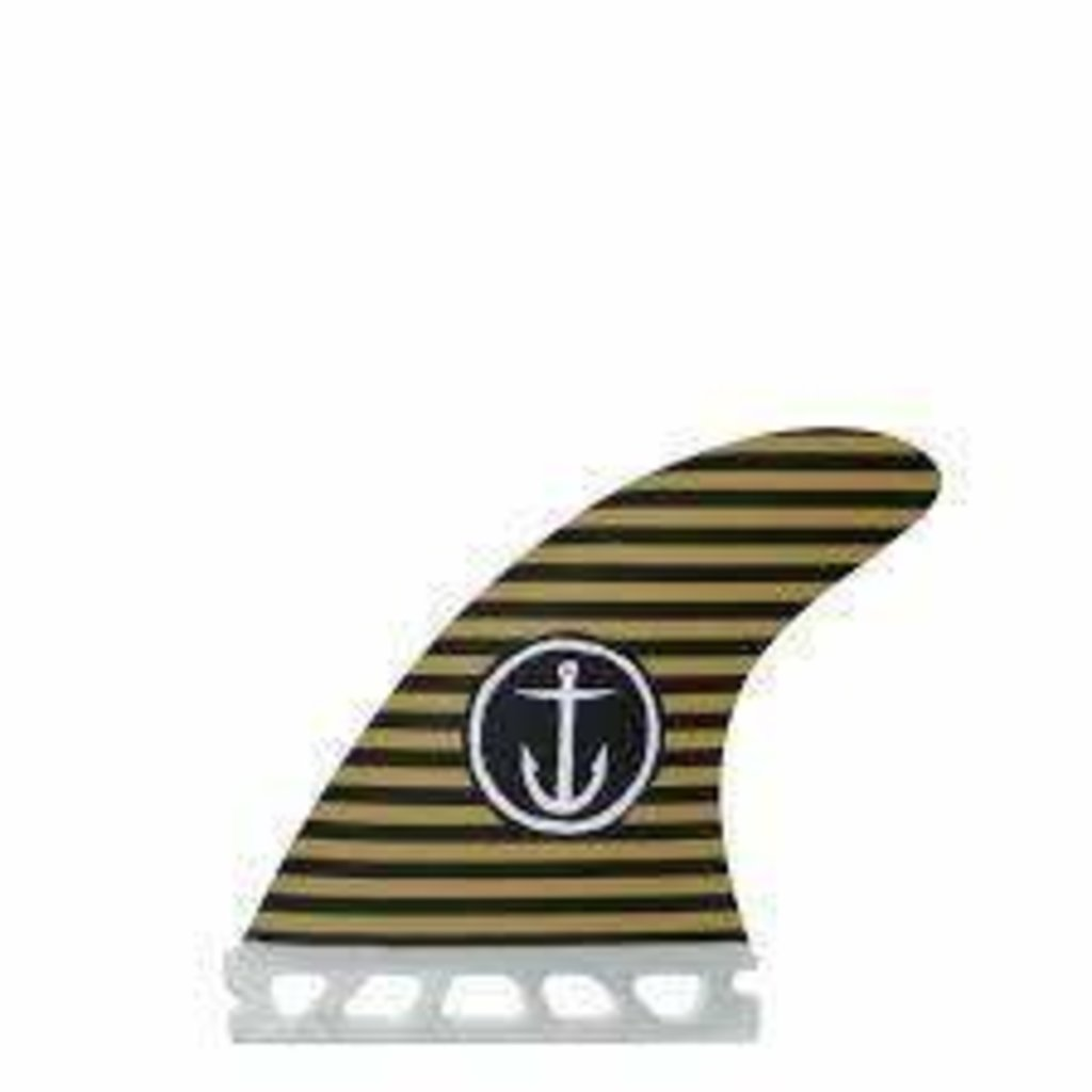 Captain Fin Captain Fin Captain Black Army Stripes - Thruster fin set 4.38'' - 4.38''
