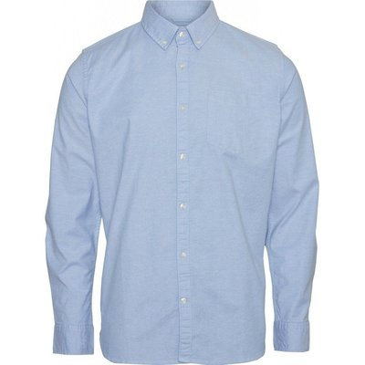 Knowledge Cotton Apparel Knowledge Cotton Apparel Stretched Oxford Shirt Lapis Blue