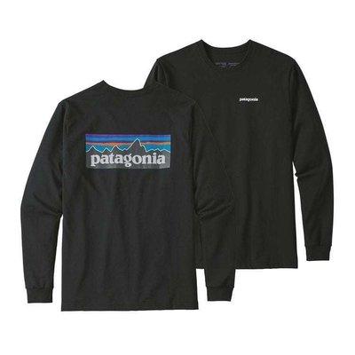 Patagonia Patagonia L/S P-6 Logo Responsibili-Tee Black