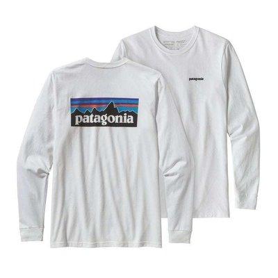 Patagonia Patagonia L/S P-6 Logo Responsibili-Tee White