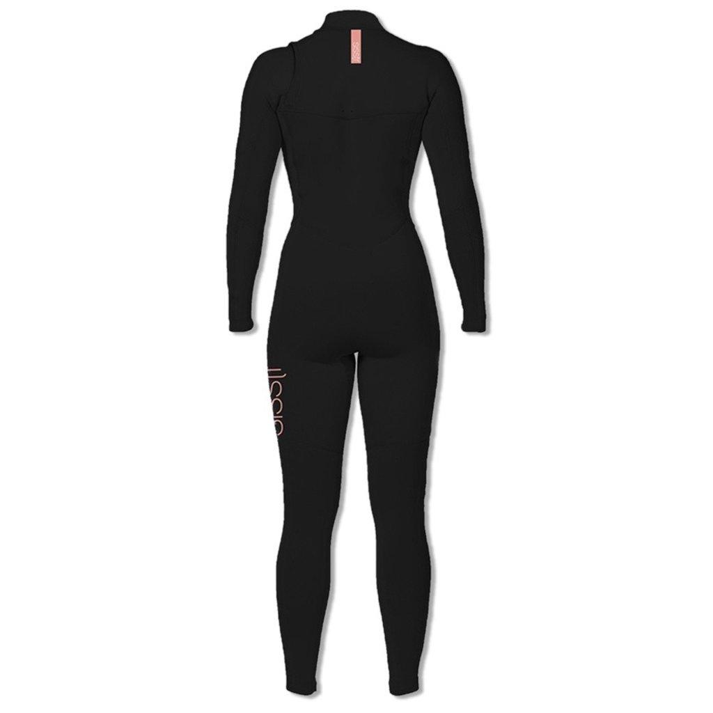 Sisstrevolution Sisstrevolution Womens Wetsuit 7 Seas 4/3 Chest Zip Black