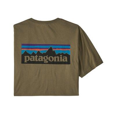 Patagonia Patagonia P-6 Logo Organic T-shirt Sage Khaki
