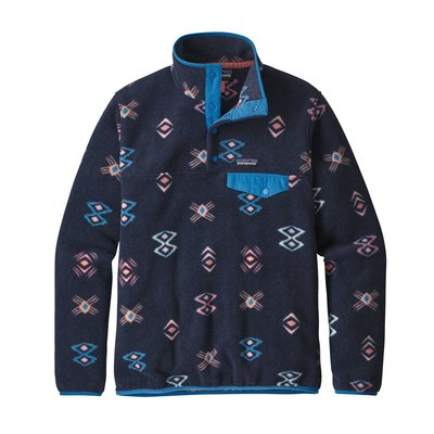 Patagonia Patagonia W's LW Synch Snap-T P/O Space Spirits New Navy