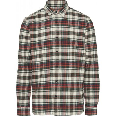 Knowledge Cotton Apparel Knowledge Cotton Apparel Checked Flannel Shirt Green Forest