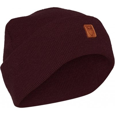 KnowledgeCotton Apparel Knowledge Cotton Apparel Beanie Organic Wool Fig