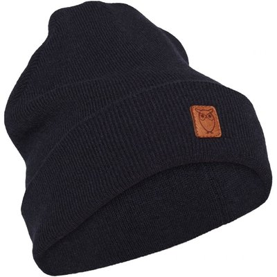 KnowledgeCotton Apparel Knowledge Cotton Apparel Beanie Organic Wool Total Eclipse
