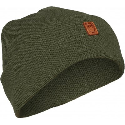 KnowledgeCotton Apparel Knowledge Cotton Apparel Beanie Organic Wool Green Forest