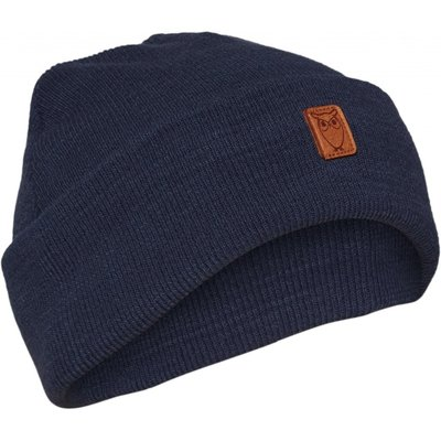 Knowledge Cotton Apparel Knowledge Cotton Apparel Beanie Organic Wool Dark Denim