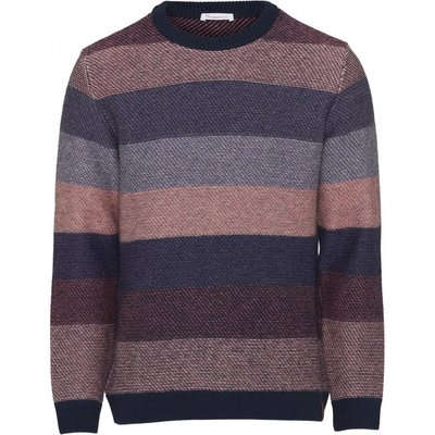 Knowledge Cotton Apparel Knowledge Cotton Apparel Multi Colored Striped o-neck knit