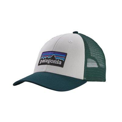 Patagonia Patagonia P-6 Logo LoPro Trucker Hat White Piki Green