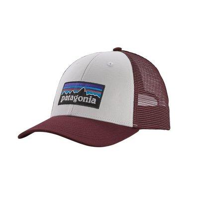 Patagonia Patagonia P-6 Logo LoPro Trucker Hat White Dark Ruby