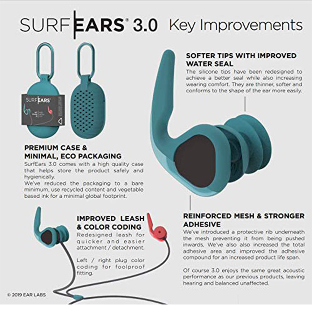 Surf Ears Surf Ears 3.0 Red / Teal