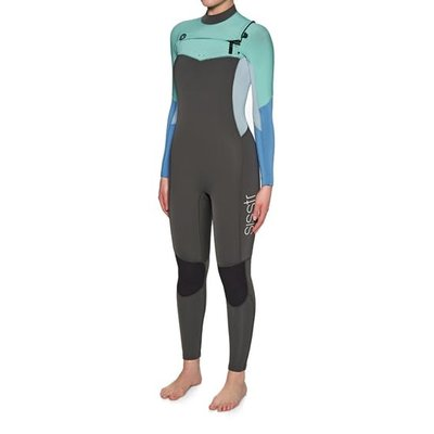 Sisstrevolution Sisstrevolution Womens Wetsuit 7 Seas 4/3 Chest Zip Full Charcoal