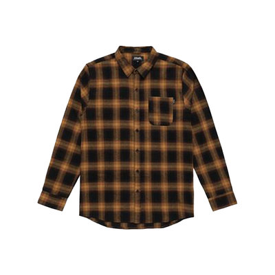 Afends Afends Tinnie Long Sleeve Shirt Seal Brown