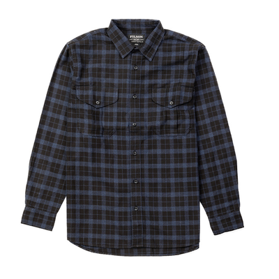 Filson Filson Light Weight Alaskan Guide Shirt Black / Blue Heather Plaid
