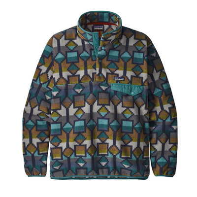 Patagonia Patagonia Mens Lightweight Synch Snap-T Pullover EU Fit Cedar Mesa Big New Navy