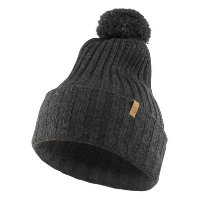 Fjallraven Fjallraven Byron Solid Pom Hat Dark Grey
