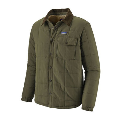 Patagonia Patagonia Mens Isthmus Quilted Shirt Jacket Industrial Green