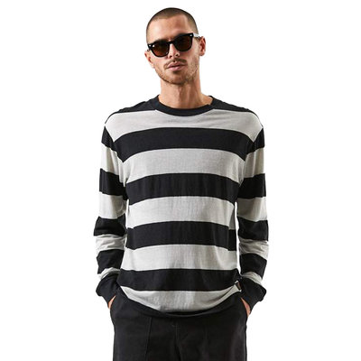Afends Afends Team Dendy Hemp Retro Fit Long Sleeve Tee Black