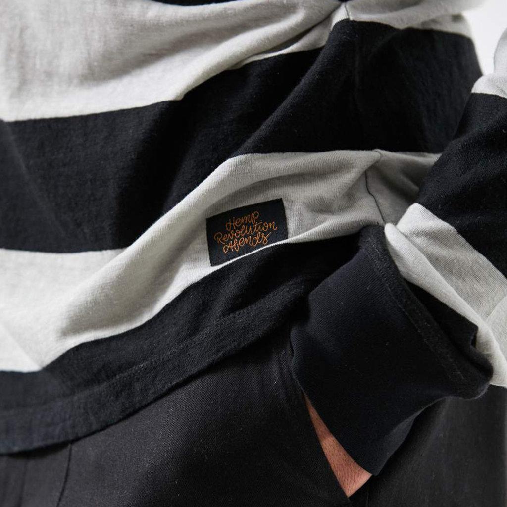 Afends Afends Team Dendy Hemp Retro Fit Long Sleeve Tee Black