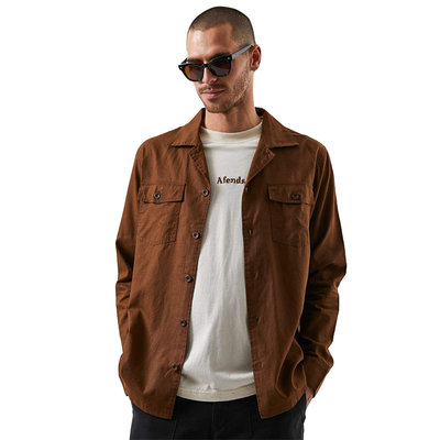 Afends Afends Maverick Hemp Work Shirt Impala