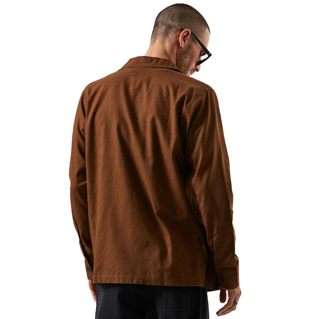 Afends Afends Maverick Hemp Work Shirt Impala