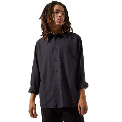 Afends Afends Everyday Hemp Long Sleeve Shirt Black